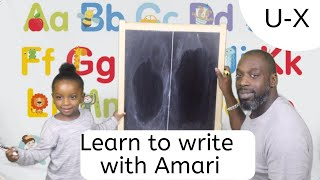 How to Teach Toddler to write easy fast simple. Alphabet Uppercase letters. U  - X