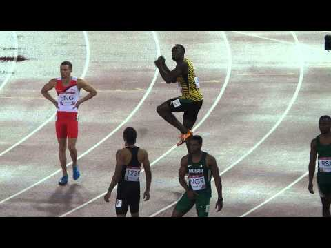 Usain Bolt at Hampden dancing to Proclaimers