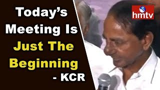 KCR Speaks To Media After Meeting With Mamata Banerjee | Federal Front | hmtv News