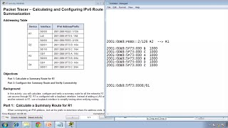 Packet Tracer 6.4.2.4 Calculating and Configuring an IPv6 Route Summarization Instructions - CCNA 2