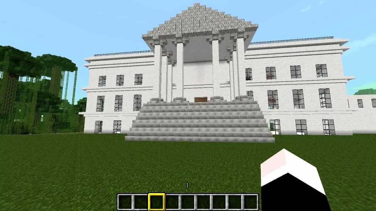 La casa blanca en minecraft youtube - La casa de la mampara ...