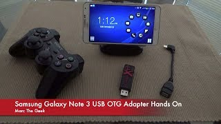 Samsung Galaxy Note 3 USB OTG Adapter Hands On