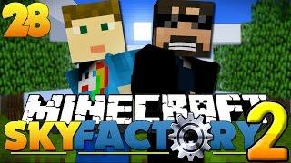 Minecraft SkyFactory 2 - DEADLY CLOUD PRANK!! [28]