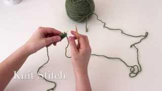 Knitting Tutorial for Beginners: The Knit Stitch