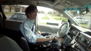 Person with Quadriplegia Driving an Accessible Van with an EMC Joystick