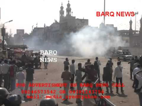 BARQ NEWS..STONE PELTING AT MECCA MASJID AFTER NAMAZ-E-JUMMA TEAR GAS FIRED