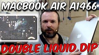 Macbook Air A1466: No fan spin, liquid damage (820-00165)