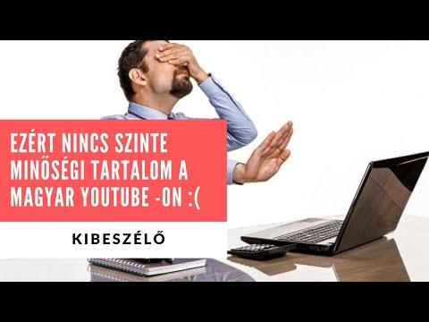 Emiatt nincs szinte minőségi zene, videó a magyar Youtube -on
