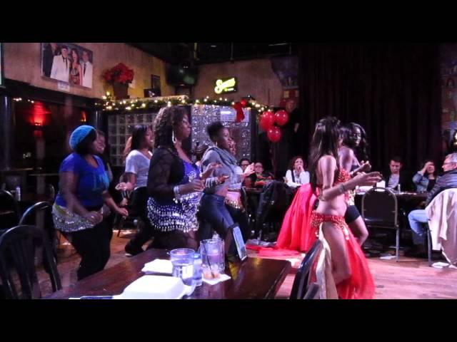 Part 2: The Ebony Delights Dancing with Neenah at Stratos Greek Taverna