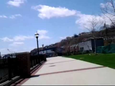 Bike Ride 4/26/14 Edgewater - Weehawken - Hoboken with Medivac Helicopter