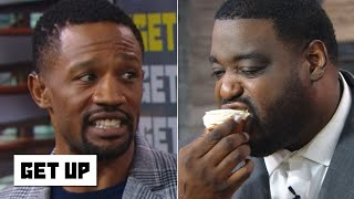 Damien Woody devours cupcakes to predict the Super Bowl | Get Up