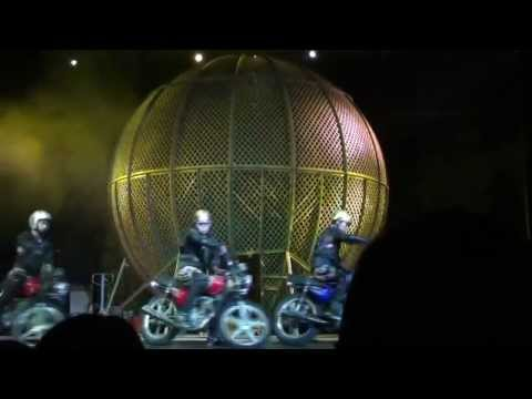 Crazy Bikers In A Globe