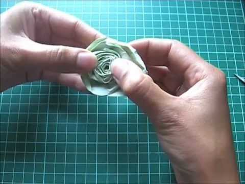 Tutoriel embellissement rose en papier youtube - Comment faire une rose en papier facile ...