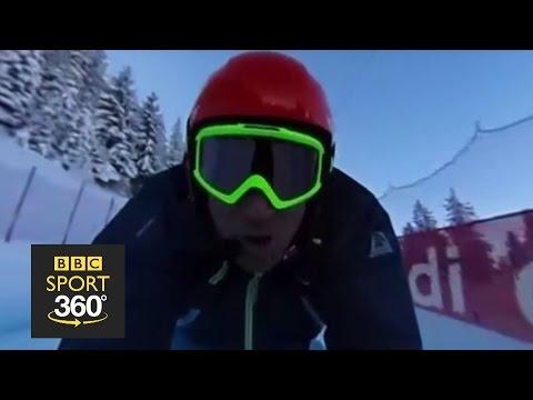 "360 video: Riding the ""Ice Monster"" at Kitzbühel - BBC Sport"