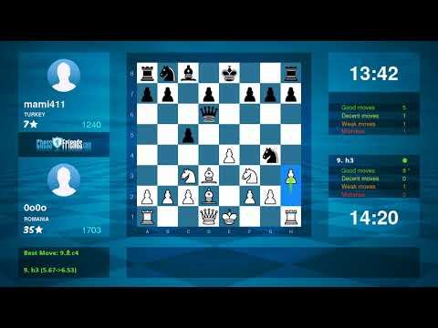 Chess Game Analysis: 0o0o mami411 : 10 (By ChessFriends.com)