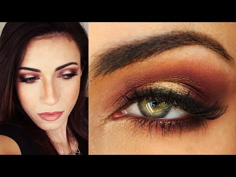 Burgundy Plum Amp Gold Fall Makeup Tutorial