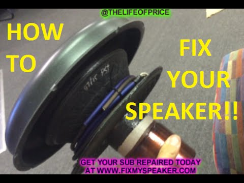 HOW TO REPAIR A SUBWOOFER ( FOR REAL )