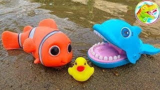 Nemo clown fish, dolphins, dinosaurs and funny ducks - baby toys I176B ToyTV