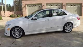 HD VIDEO 2011 MERCEDES E350 4MATIC AWD WHITE PREMIUM II USED FOR SALE INFO WWW SUNSETMOTORS COM