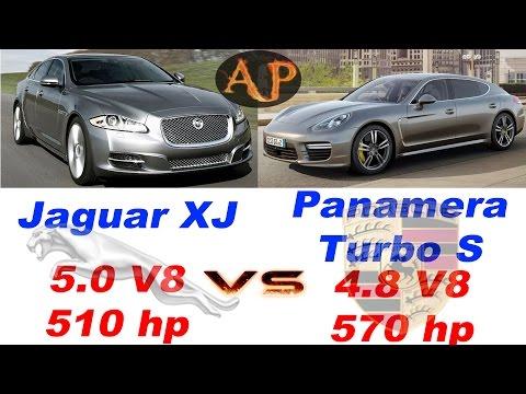 ★Jaguar XJ 5.0 (510 hp) vs. ★Porsche Panamera Turbo S 4.8 (570 HP) review, sound, acceleration 0-250