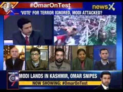 #OmarOnTest: Modi lands in Kashmir, Omar snipes