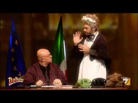 Italialand – Crozza/Napolitano e Favino/Caramella preparano il discorso di fine anno 2011
