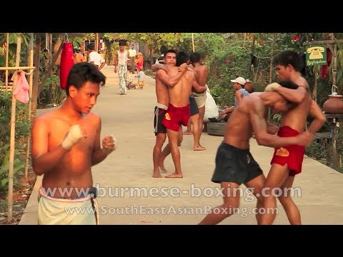 Lethwei Burmese Boxing [HD] - Aphyu Yaung Thway Thit Gym - Fighter Training - Yangon Myanmar