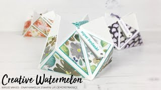 Faceted Gift Box - Frosted Floral *GEEN TUTORIAL*
