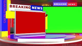 Breaking News Green Screen | After Effects 2019 Template