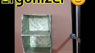 ShoeBox Organizer DIY  How to make storage box   August 2018  DIY Stuff with Mazhraa 💪