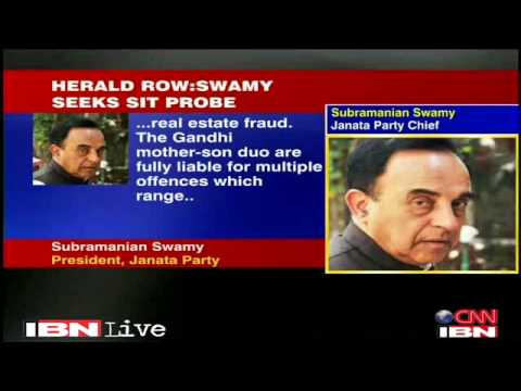 Dr Subramanian Swamy demands SIT probe into Sonia Gandhi Herald land scam in Bhopal