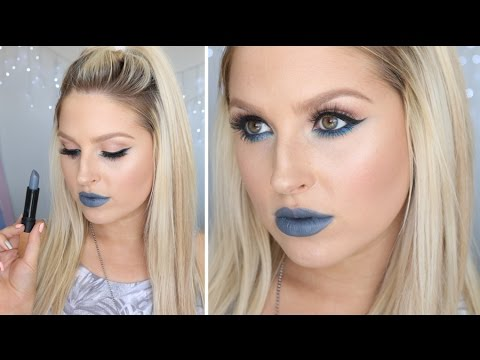 Simple Bold Eyes & Grey Lips! ♡ Chit Chat Get Ready With Me
