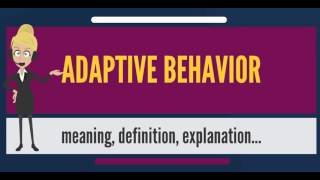 What is ADAPTIVE BEHAVIOR? What does ADAPTIVE BEHAVIOR mean? ADAPTIVE BEHAVIOR meaning & explanation