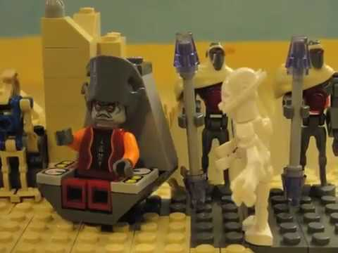 Lego star wars battle of tatooine unedited youtube - Lego star wars base droide ...