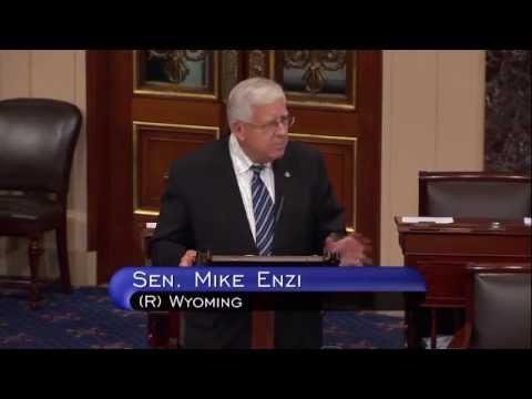 Enzi talks about Amendments to spending bills
