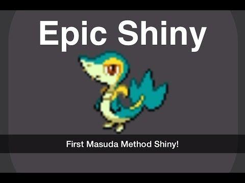 Shiny White Shiny Snivy in Pokemon White