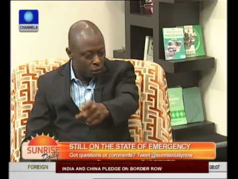 Security Consultant Supports Crackdown, Curfew In Northern Nigeria pt 2