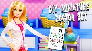 DIY Miniature Doctor Set - 10 Easy DIY Miniature Doll Crafts