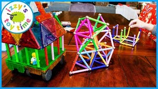 MAGNA TILES AND MAGNA STIX! Learning and Playing with Magnets!