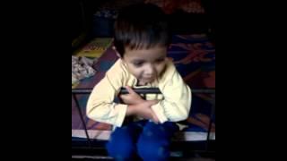 Little girl sing song rashtra geet