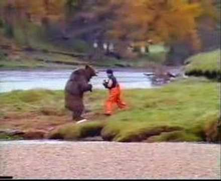 Bear Vs. Man- Fucking Hilarious video