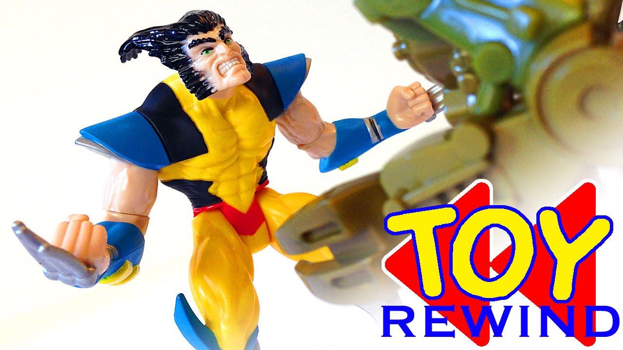 X Men Robot Fighters WOLVERINE Two Minute Toy Rewind