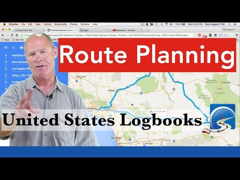How to TRIP PLAN in the United States for CDL Drivers Learning to Navigate  | Logbooks