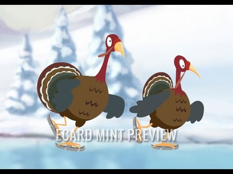 Turkeys on Ice - Funny Corporate E-Card Animation for Christmas