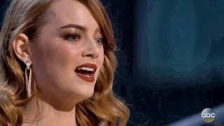 Best Actress Emma Stone Oscar Winner 2017 Speech