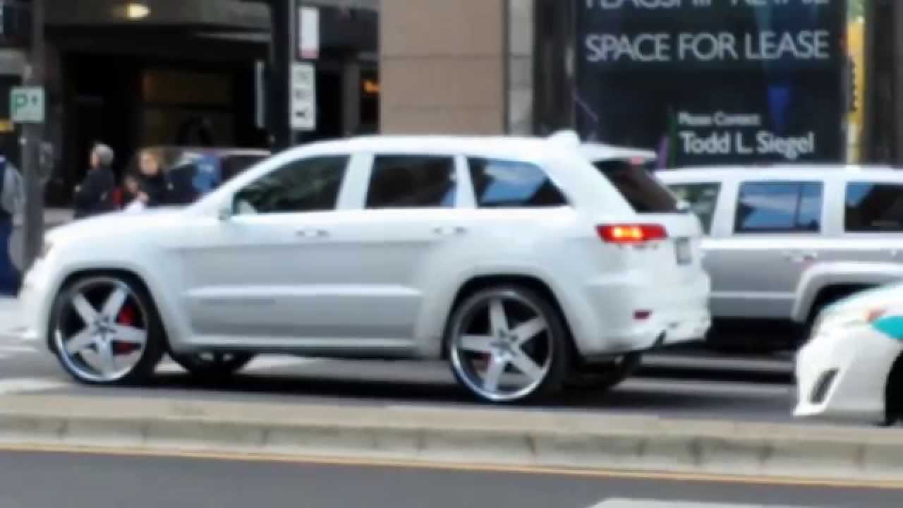 ALL WHITE 2014 SRT8 JEEP GRAND CHEROKEE ON 26! - YouTube