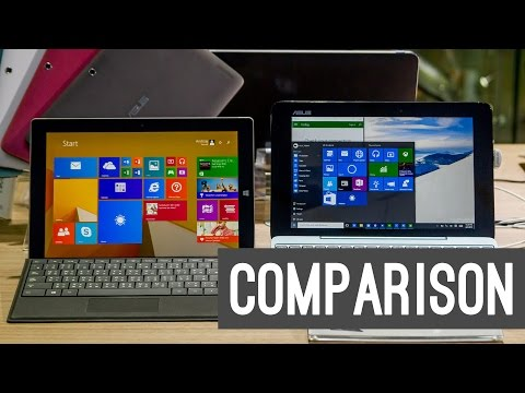 Comparison: Surface 3 vs. ASUS Transformer Book T100HA