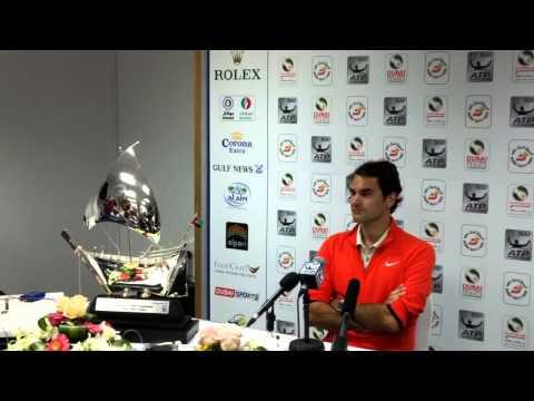 Roger Federer, Singles Champion, Dubai Tennis Championships 2014