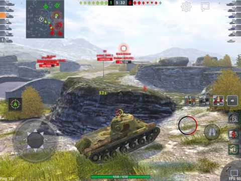 World of Tanks Blitz - IS-2 loves bridge