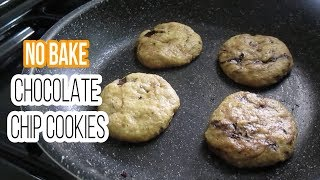 No Bake Chocolate Chip Cookies | Chocolate Chip Cookies Without Oven